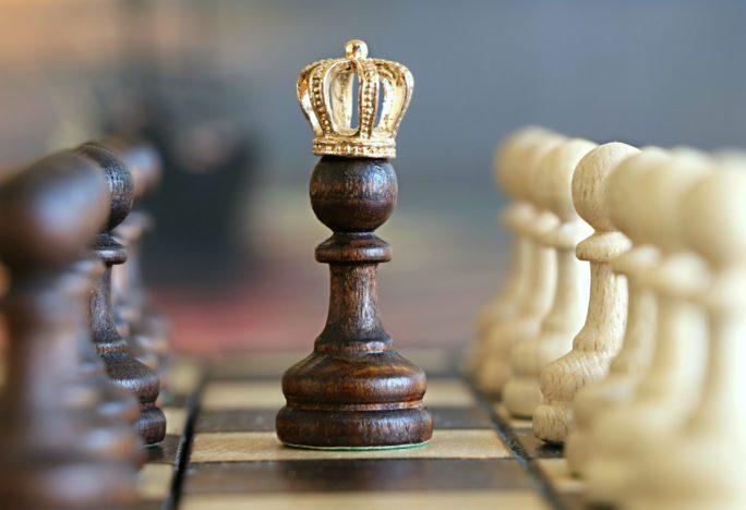 Stressresistenz König oder Krieger Schachbrett